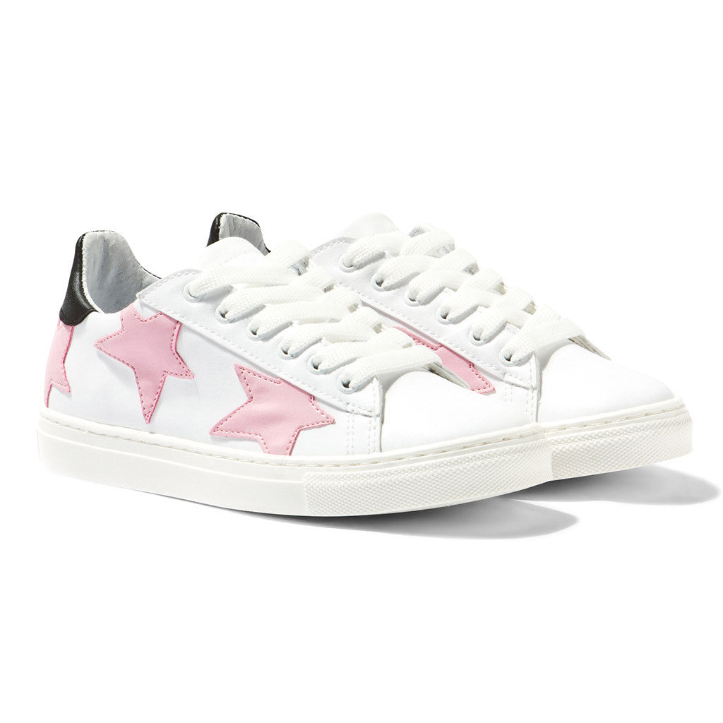 Pink Star Leather Trainers