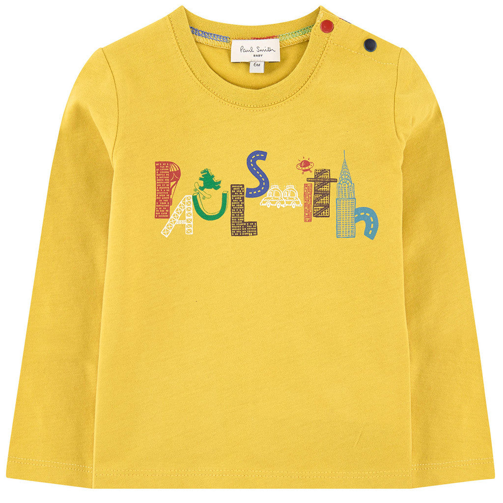 Printed Yellow Logo T-shirt