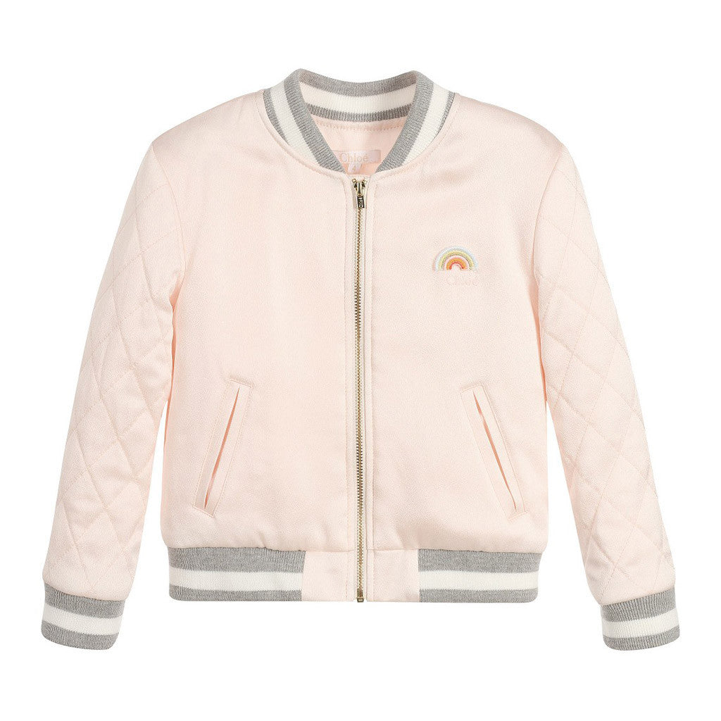 Quilted Rainbow Varsity Jacket