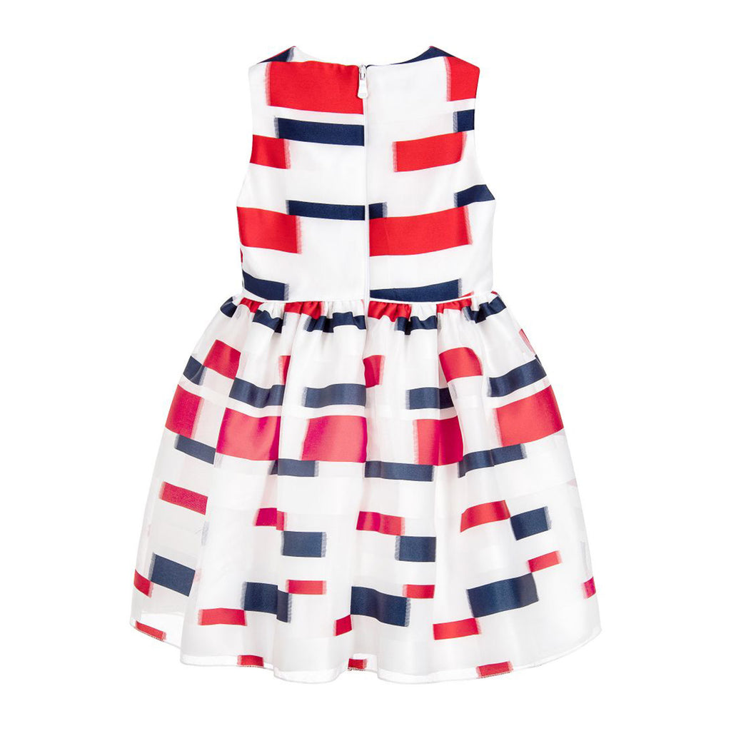Red, White, & Blue Color Block Dress