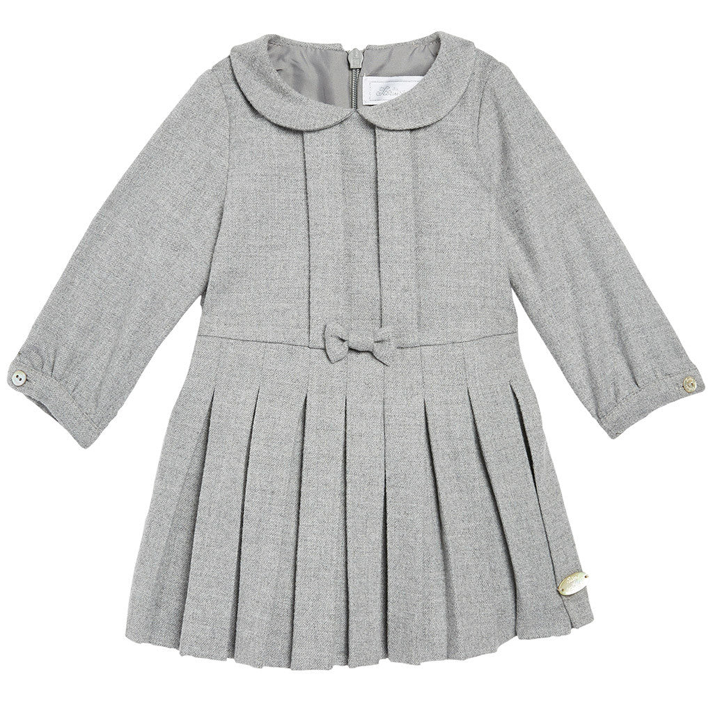 Robe Dress Gray w/ Pleated Skirt