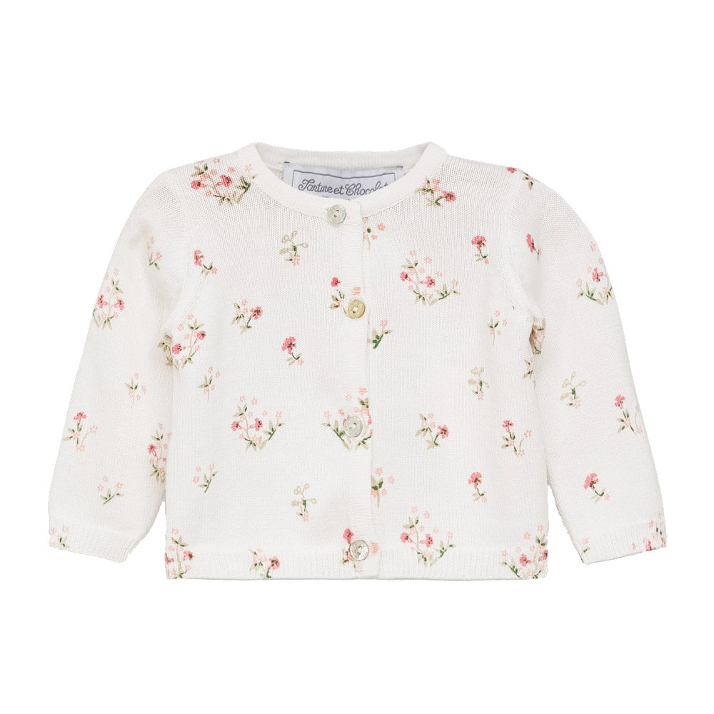Baby Girl Floral Print Cardigan