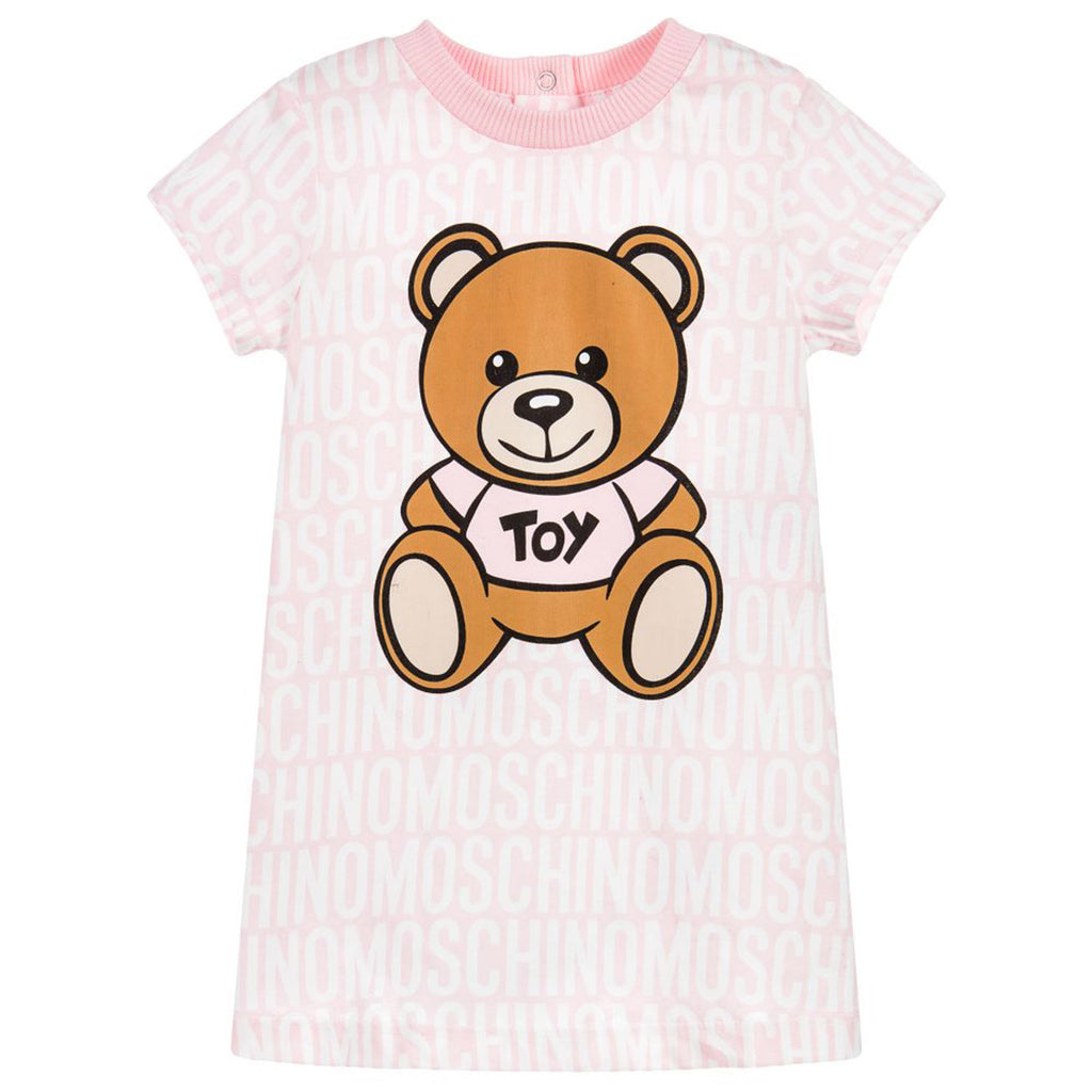 Baby Pink Logo Bear Dress