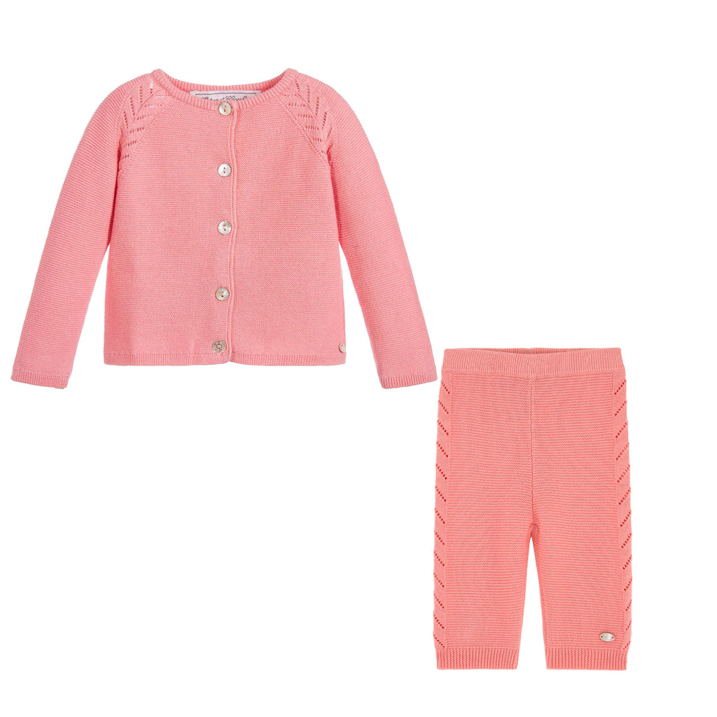 a6387e79d Baby Girls Pink Knit Cardigan   Pants Set – Occasion Kids
