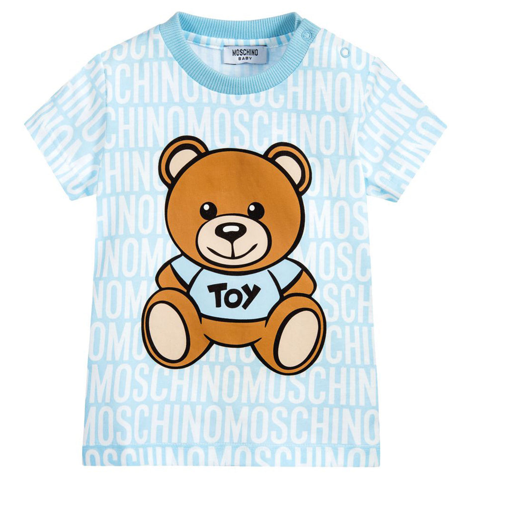 89b398975 Baby Bear & Logo T-shirt- Blue – Occasion Kids
