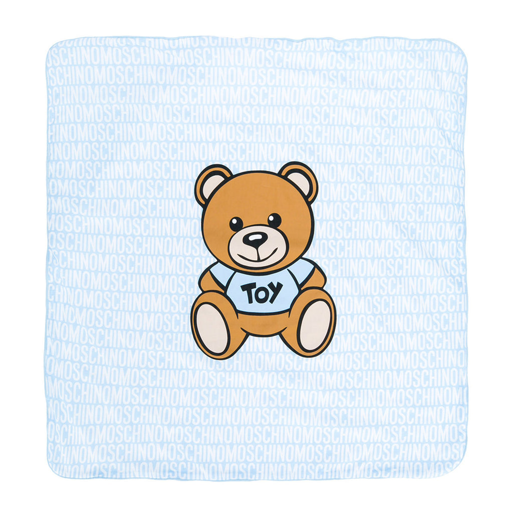 Baby 'Bear' Logo Blanket- Blue