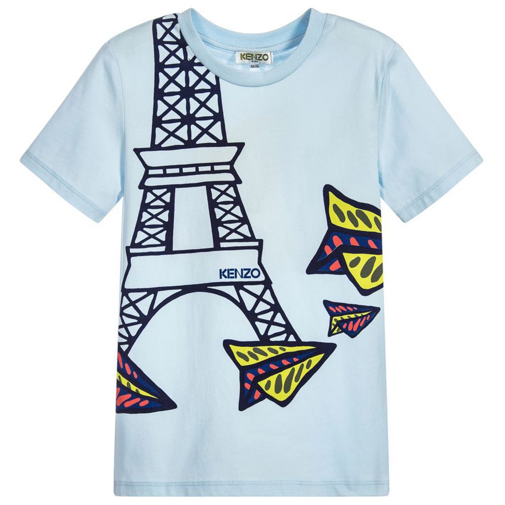 8aac602a Blue Eiffel Tower & Paper Planes T-Shirt – Occasion Kids