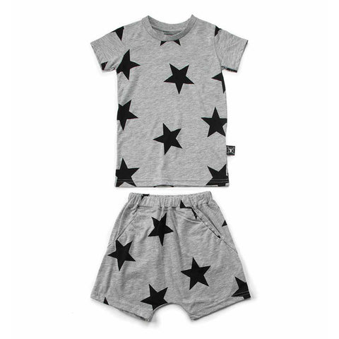 Baby  'A to Z' Footie Leggings- Gray