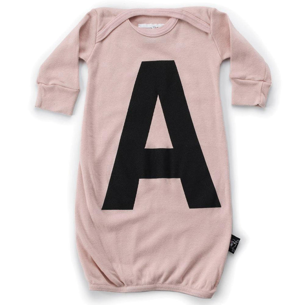 Baby Long Sleeve 'A' Sleep Gown- Pink