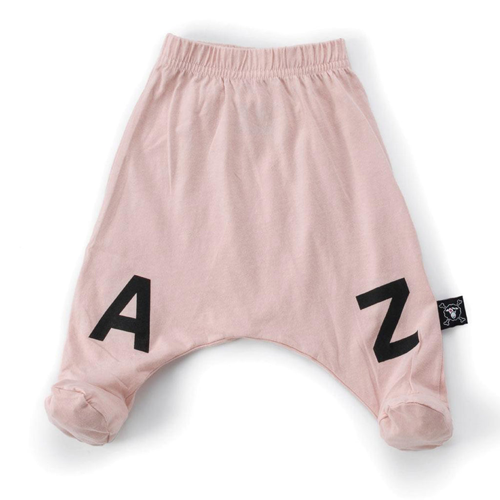 Baby  'A to Z' Footie Leggings- Pink