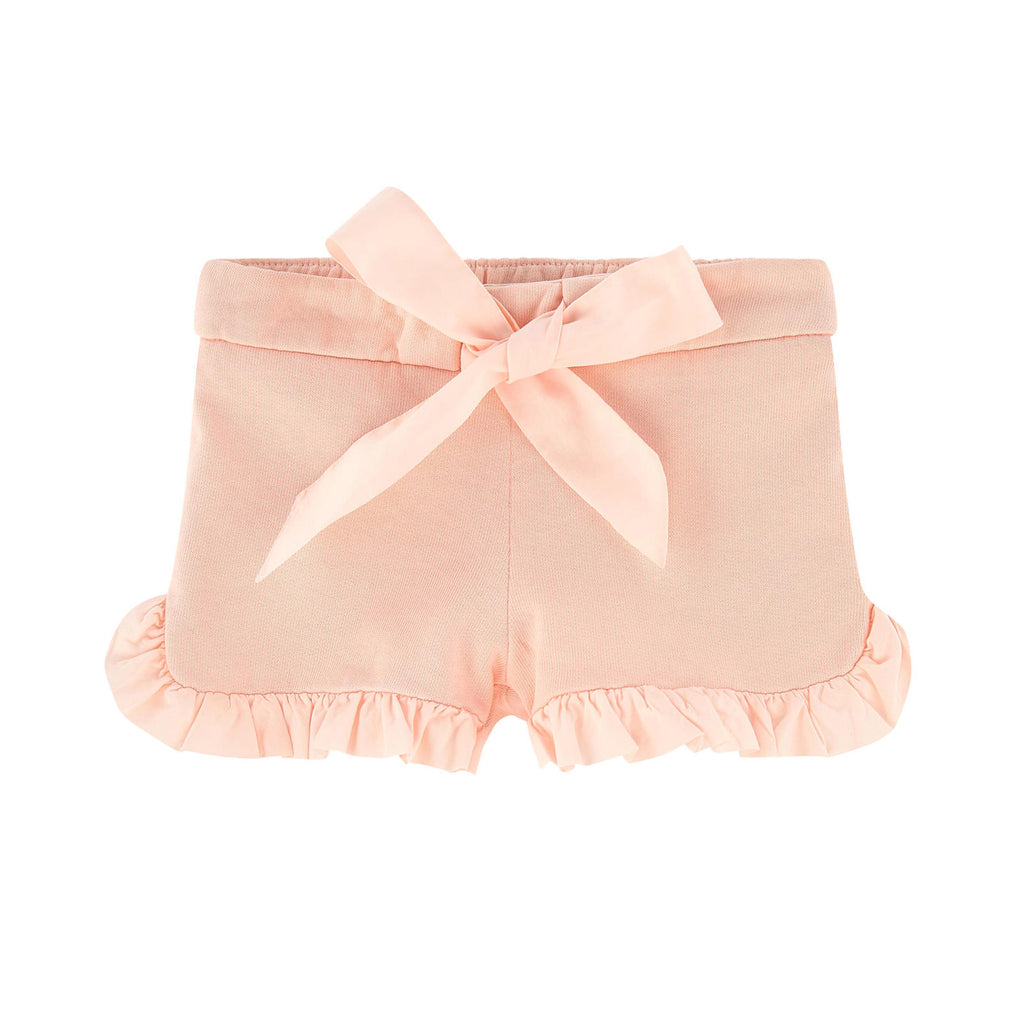 Baby Ruffle Peach Shorts