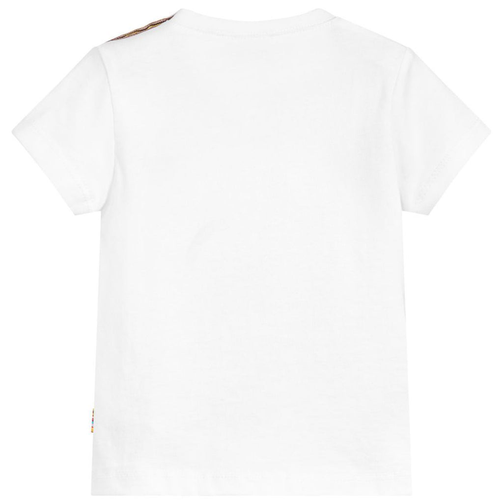Baby Boys White 'Elephant' Print T-Shirt