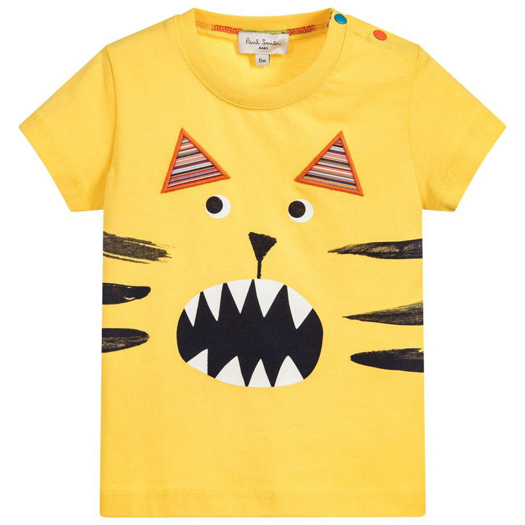 Baby Boys Yellow 'Tiger' T-Shirt