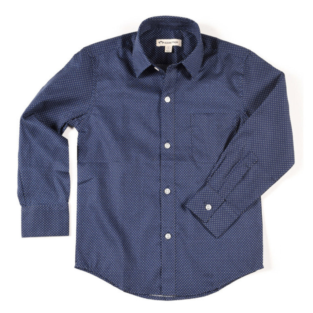 Standar Shirt Navy Dots