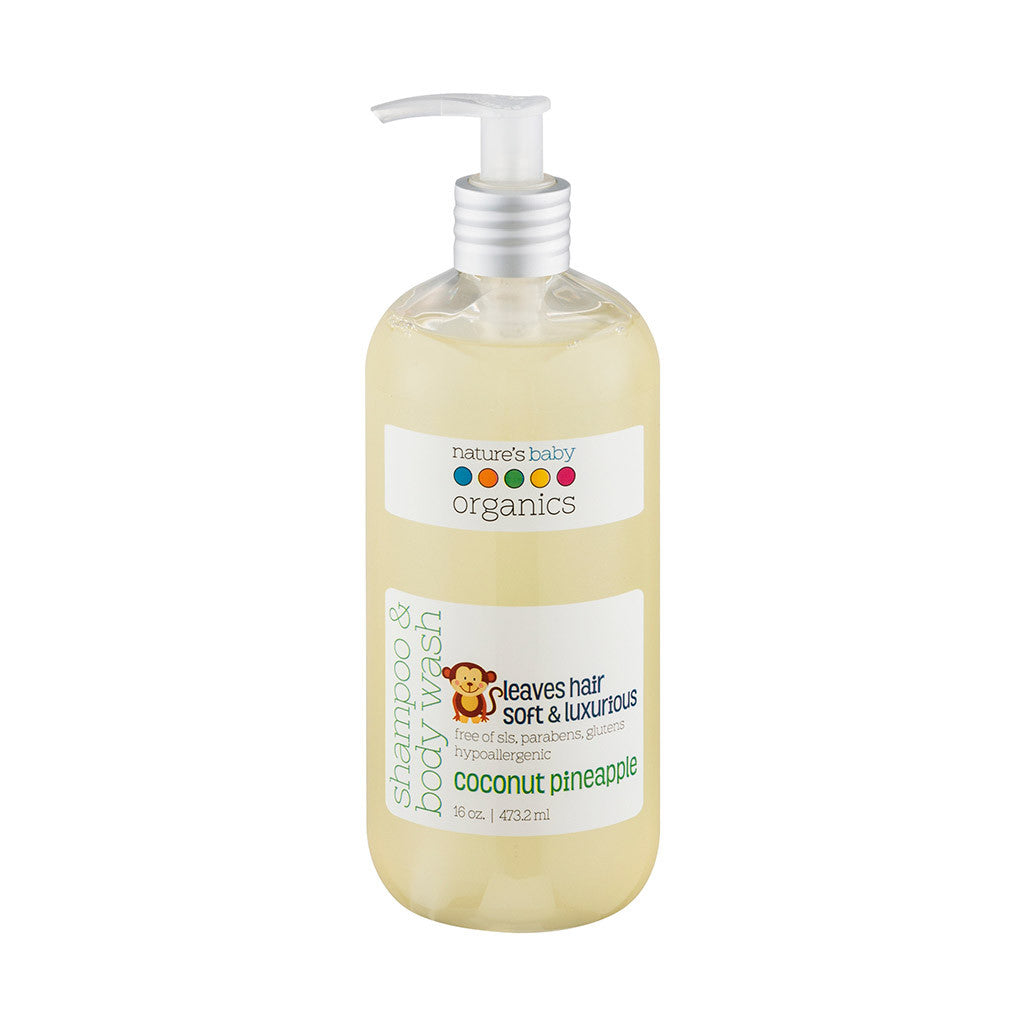 Shampoo & Body Wash Coconut Pineapple 16 oz.
