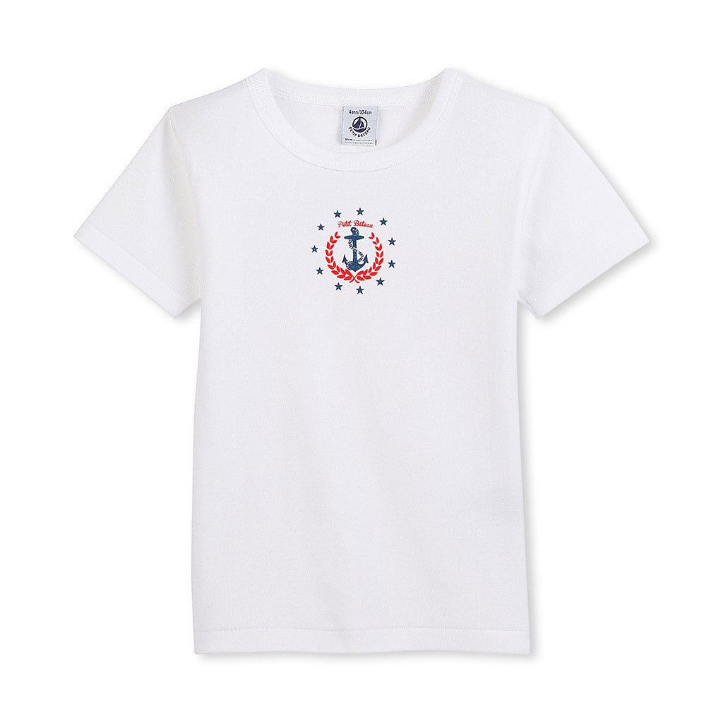 Short Sleeve Tee with Anchor Graphic
