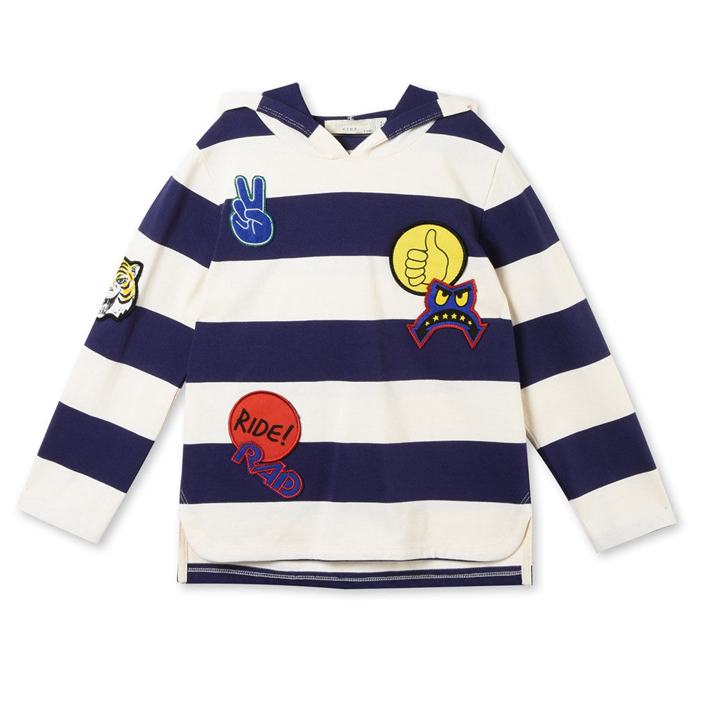 Sid Stripes Tee with Badges
