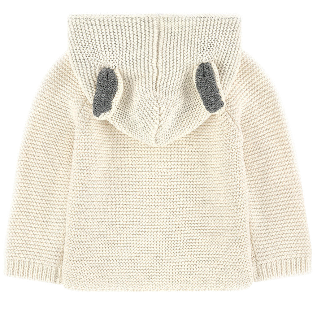 Smudge Bunny Cardigan White