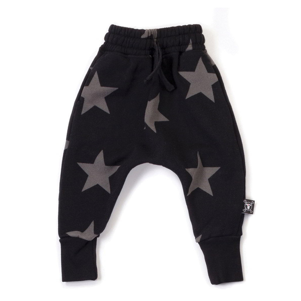 Star Baggy Black Pants