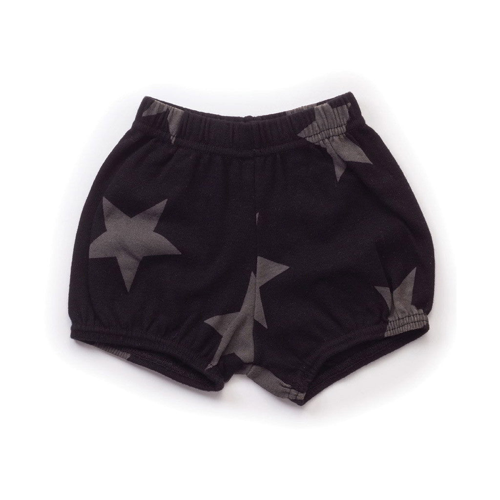 Star Yoga Shorts Black
