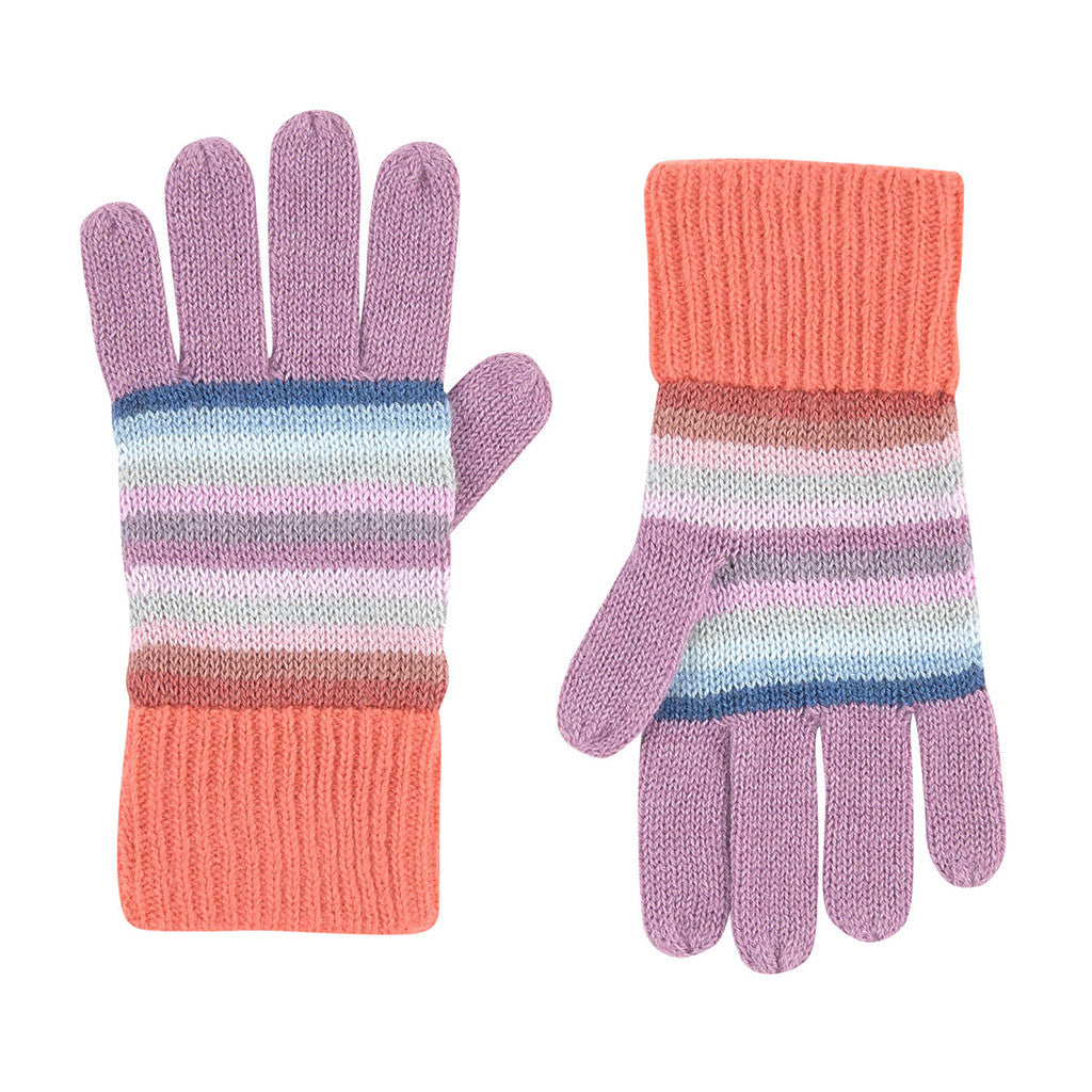 Striped Wool Blend Glove