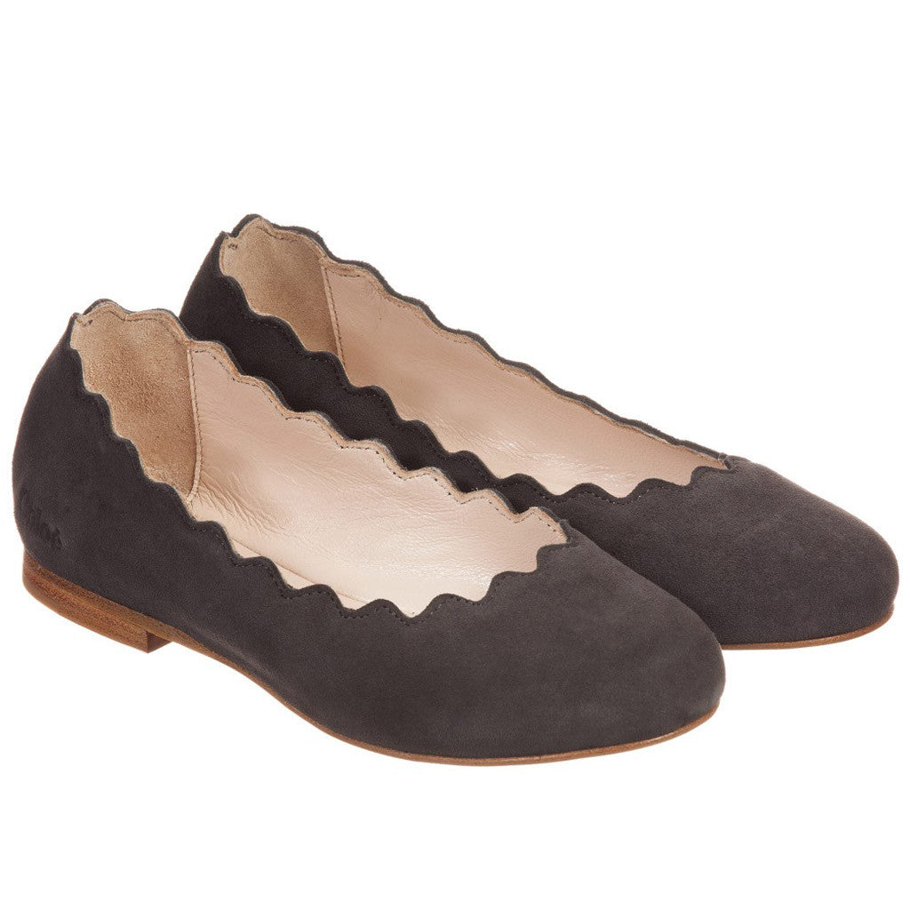 Suede and Leather Ballerinas