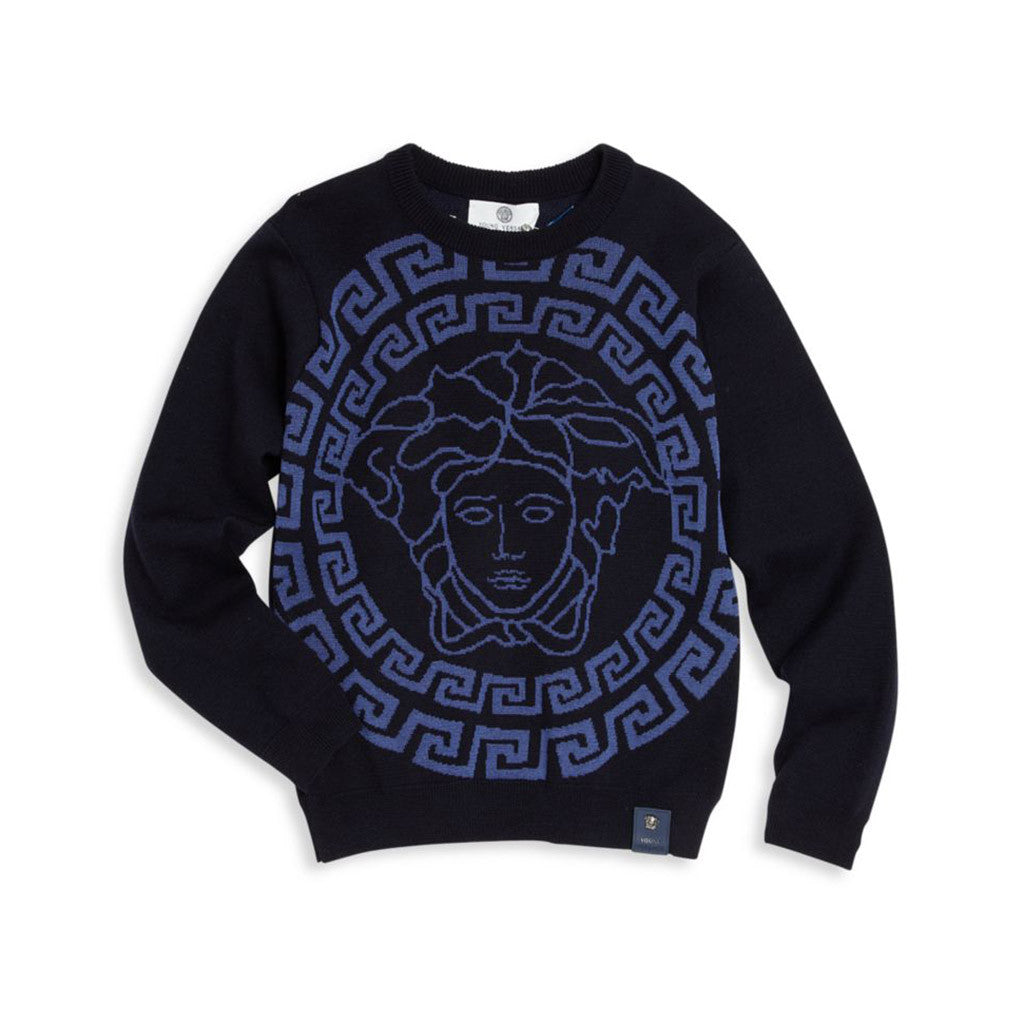 Sweater w/ Medusa Logo Blue