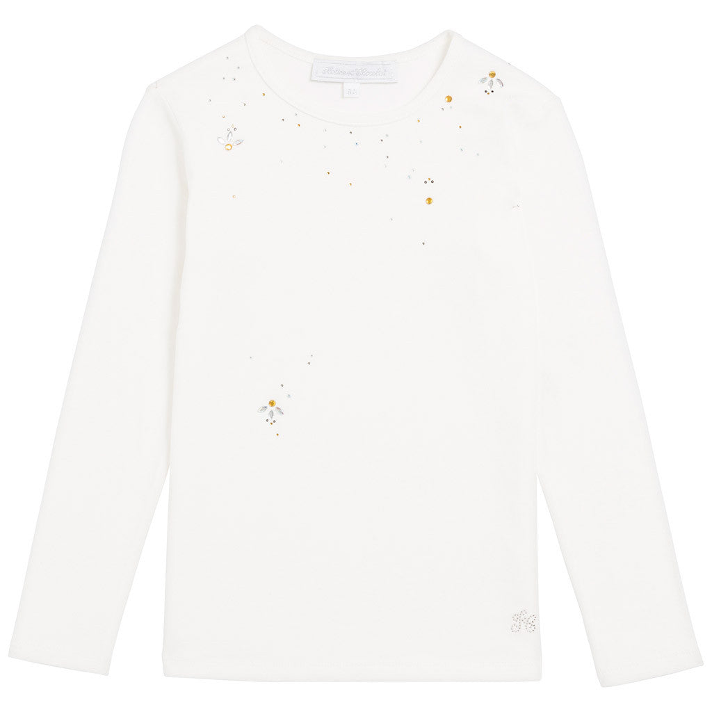 White Jeweled T-Shirt
