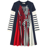 Tigra Dress Black/Red/White