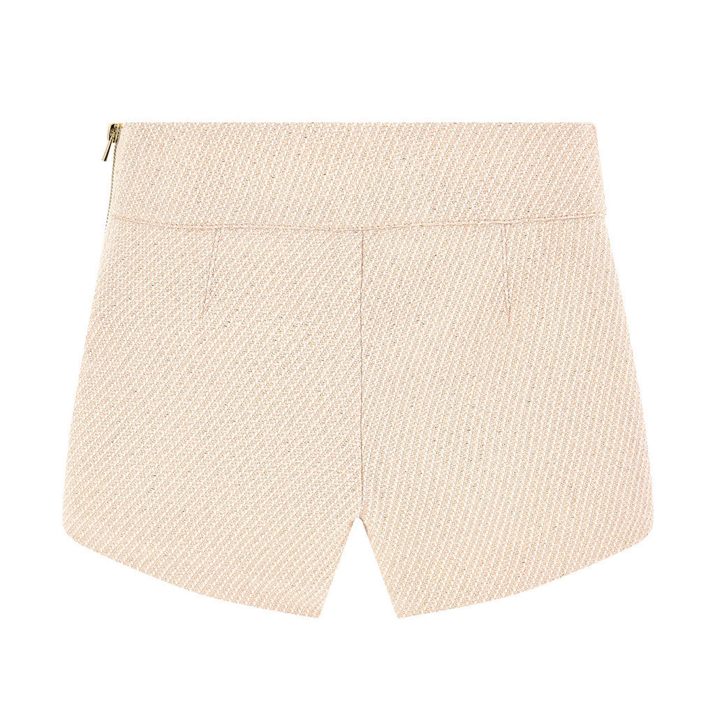 Tweed and Lurex Thread Shorts