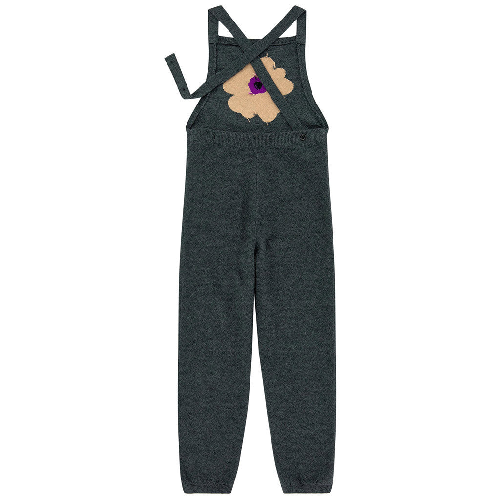 Wool Jumpsuit w/ Flower Design