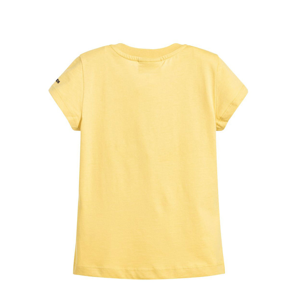 Yellow Embroidered Monster Eye T-shirt