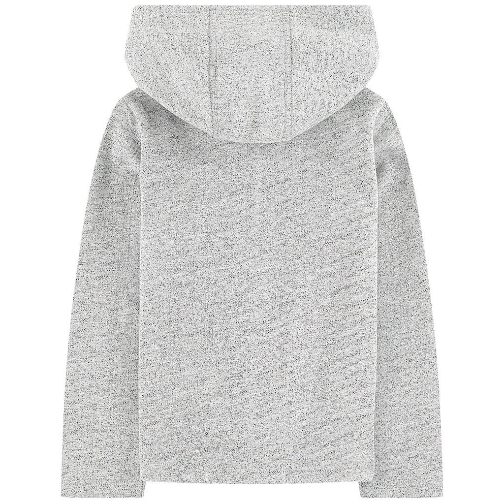 Zipup Hoodie w/ Gold Lurex Trim & Kameo Patch Gray