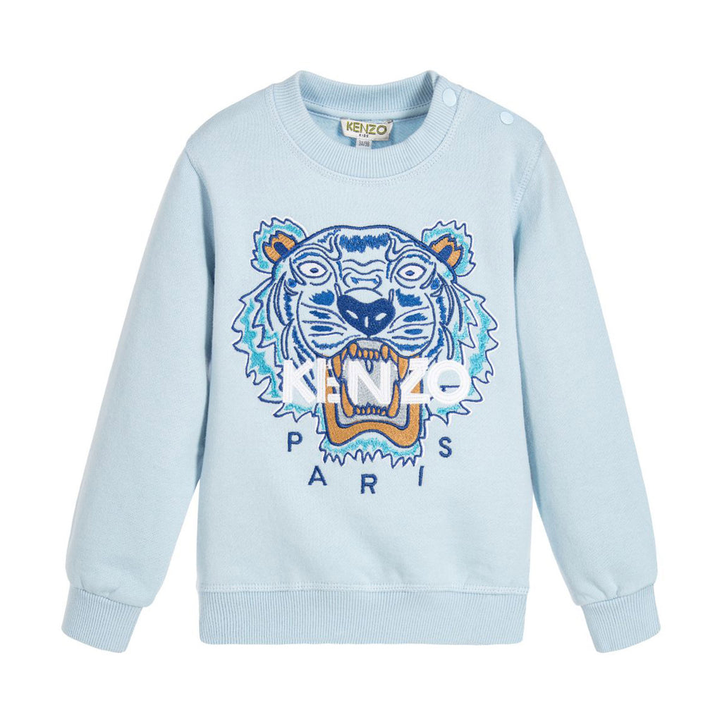 Baby Light Blue 'Tiger' Sweatshirt