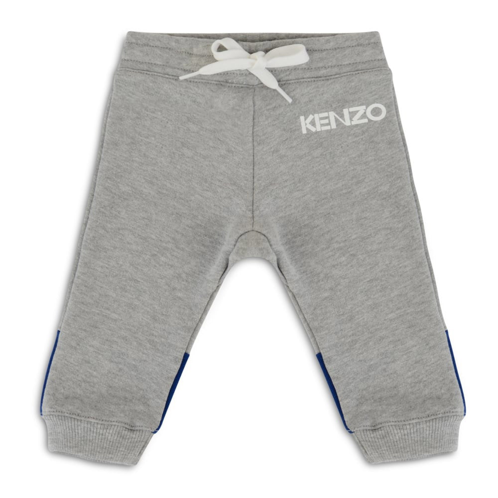 Baby Boys 'Gray & Blue' Contrast Sweatpants