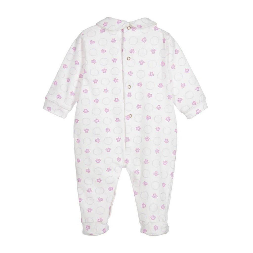 Baby All Over Medusa Print Collared Footie