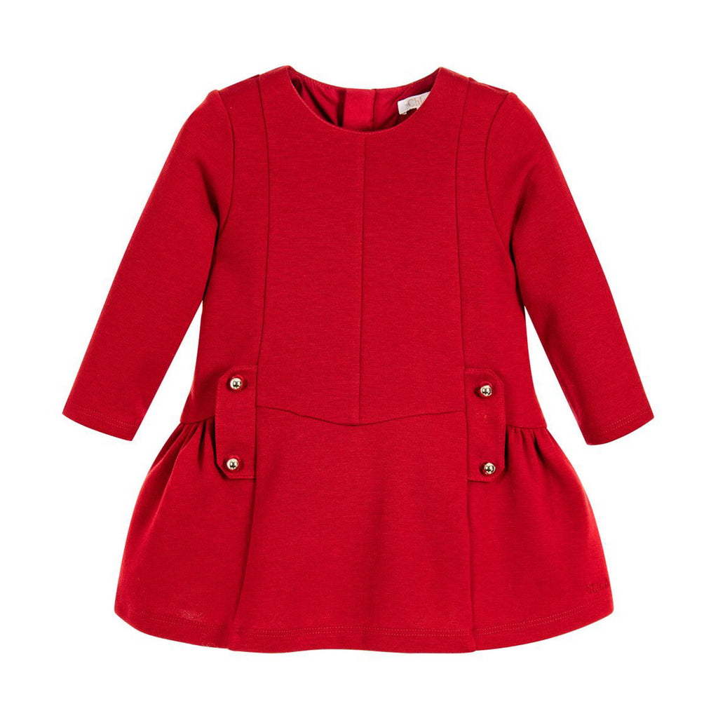 Baby Red Long Sleeve Dress