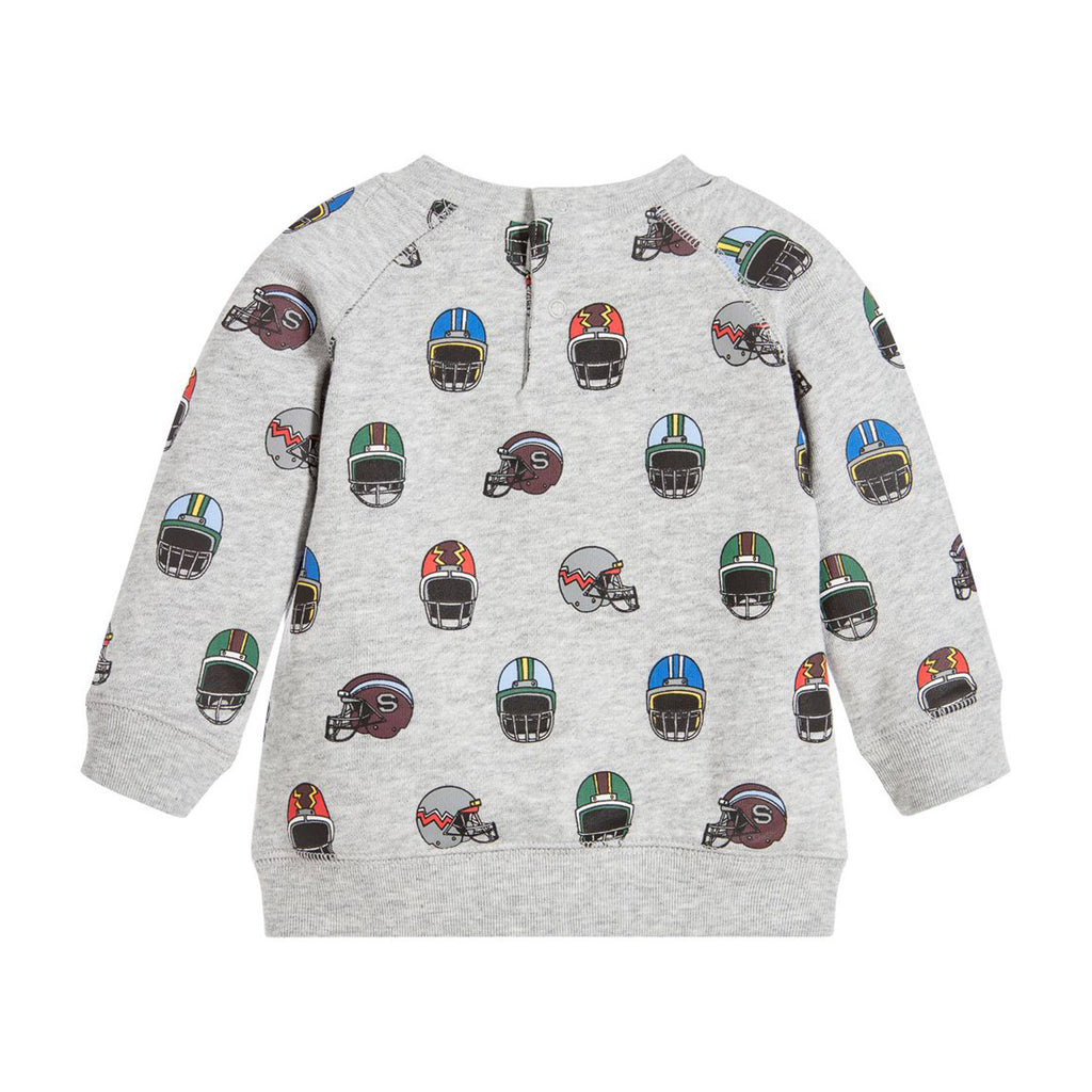 Baby Boys PULLOVER SWEATSHIRT WITH HELMET PRINT