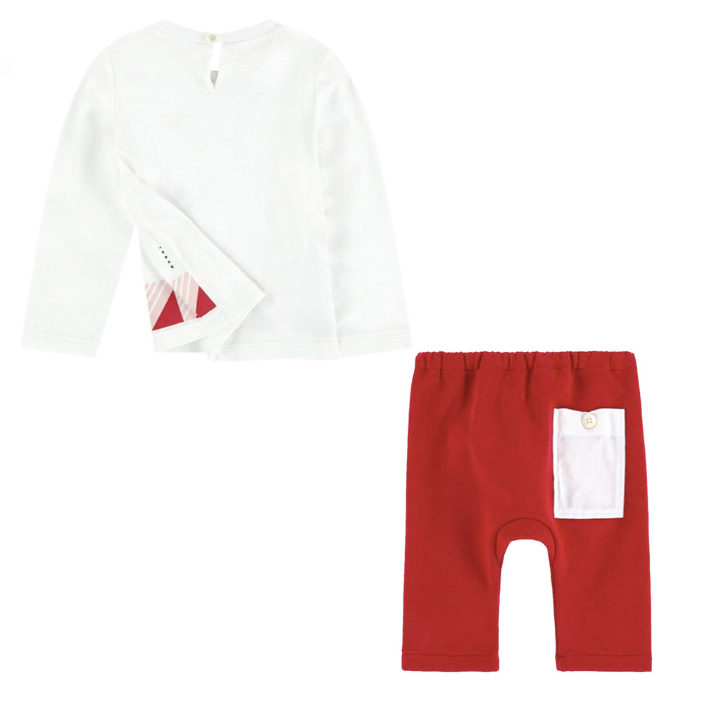 Baby Long Sleeve T-Shirt with Print & Pants Set