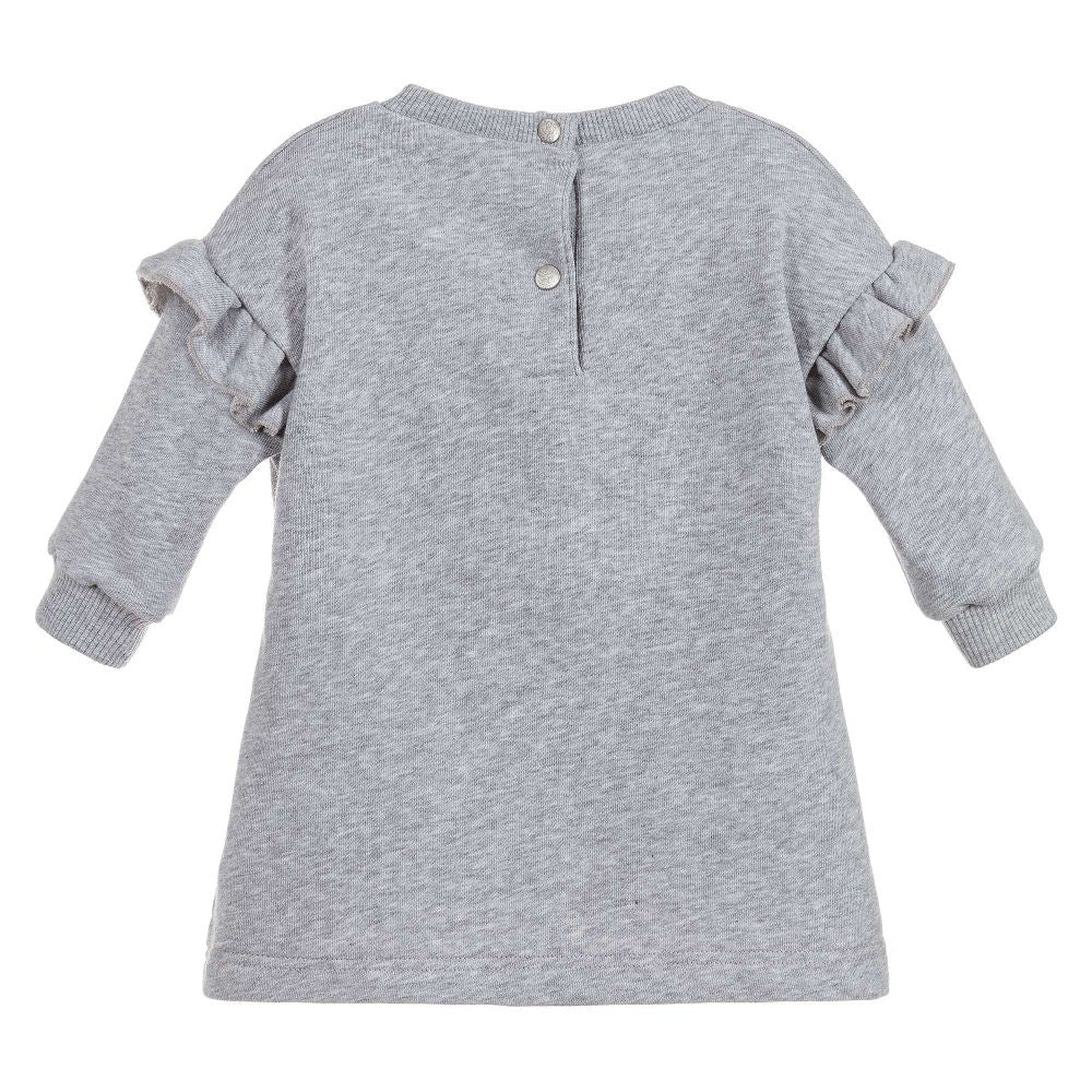 Baby Girls Embroidered Ruffle Sweat Dress