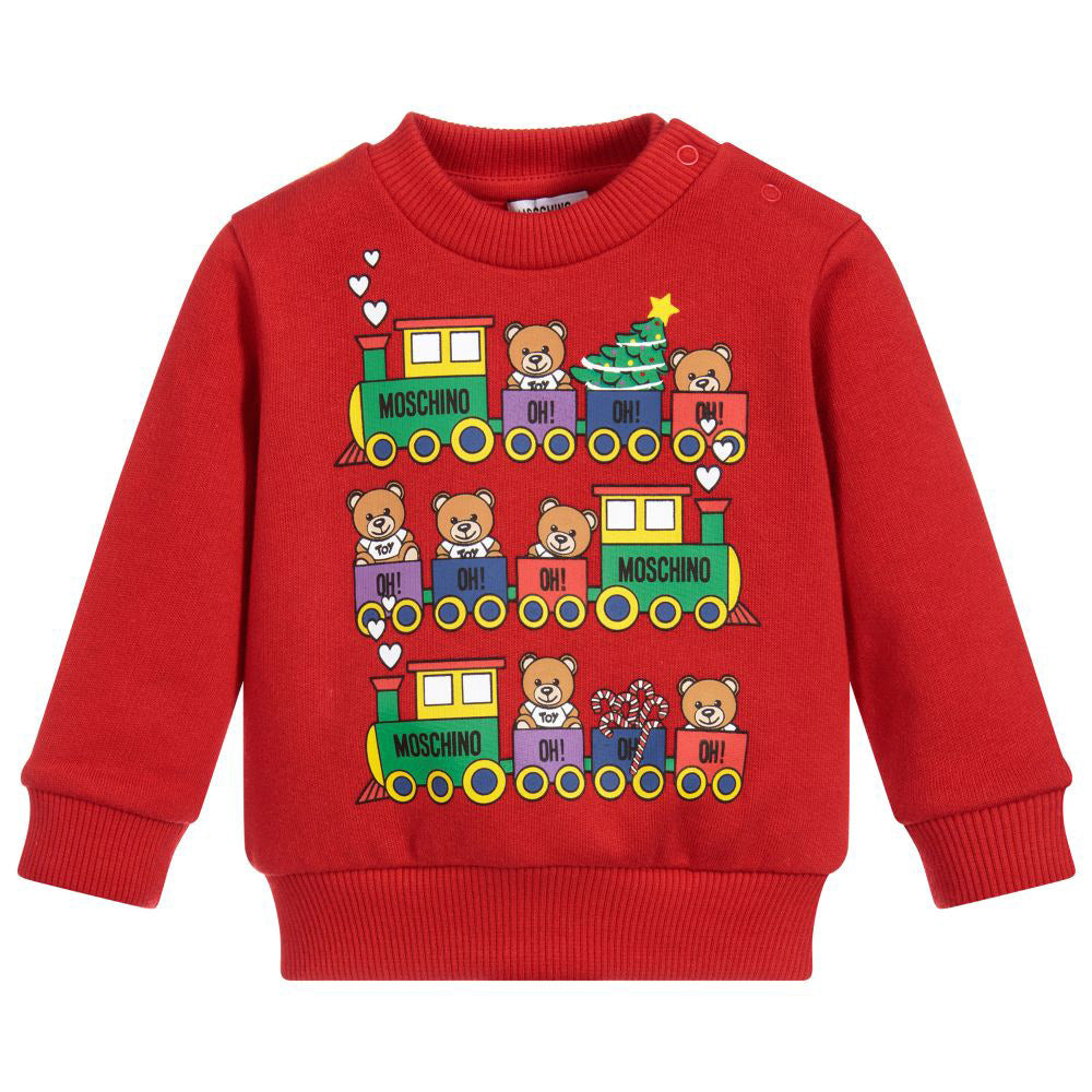 Red Baby Holiday Bear Sweatshirt