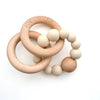 Double Wood and Silicone Teether