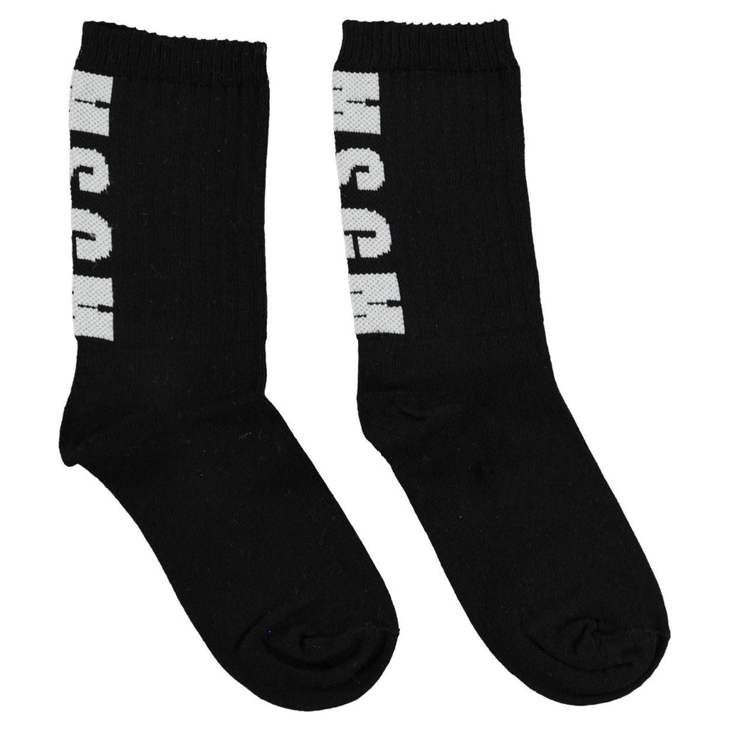 Black 'Logo' Socks