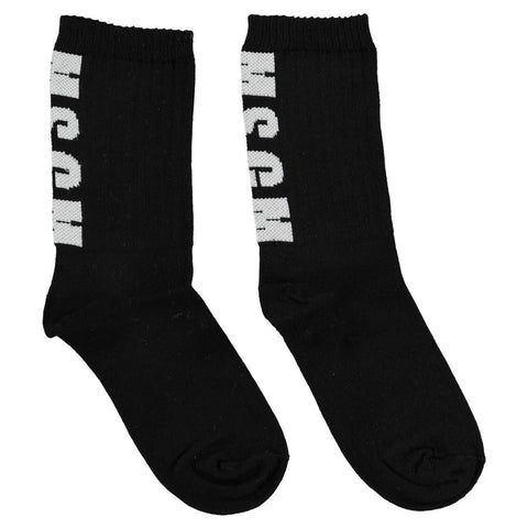 Ribbed Ankle 'Logo' Striped Socks- Red