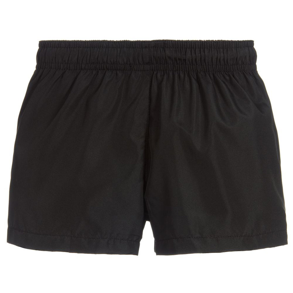 Boys Black 'Logo' Swim Shorts