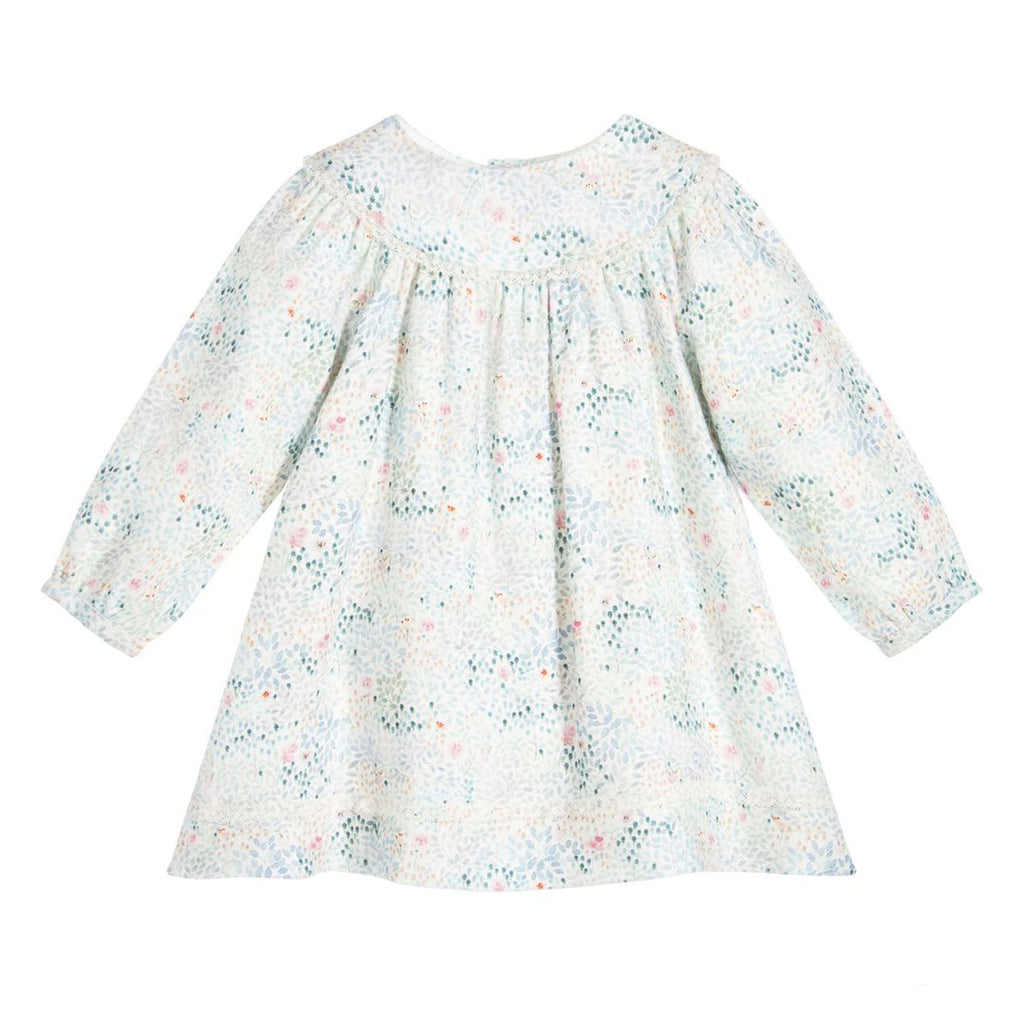 Baby Long Sleeve Blue Floral Dress