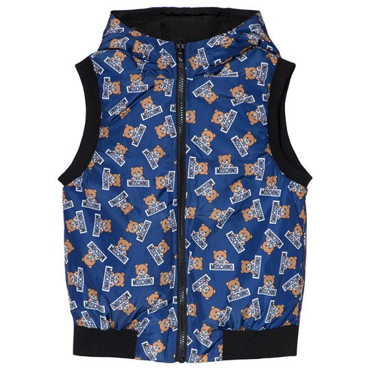 Reversible All Over Bear Print Hooded Vest