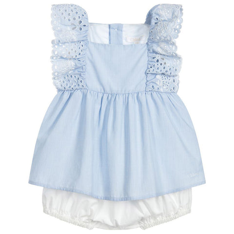 Baby Denim Sailor Collar Dress