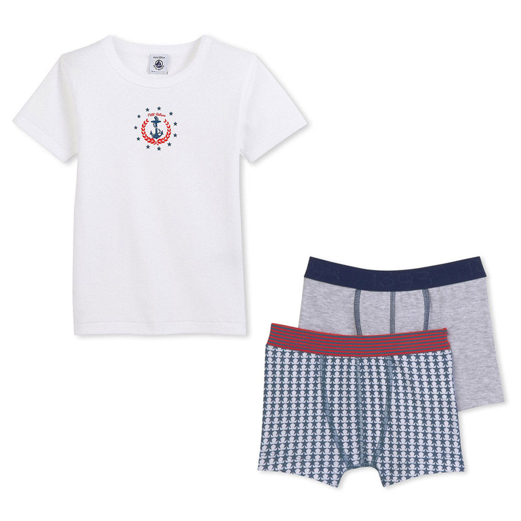 Boys Anchor T-Shirt & Boxers Set