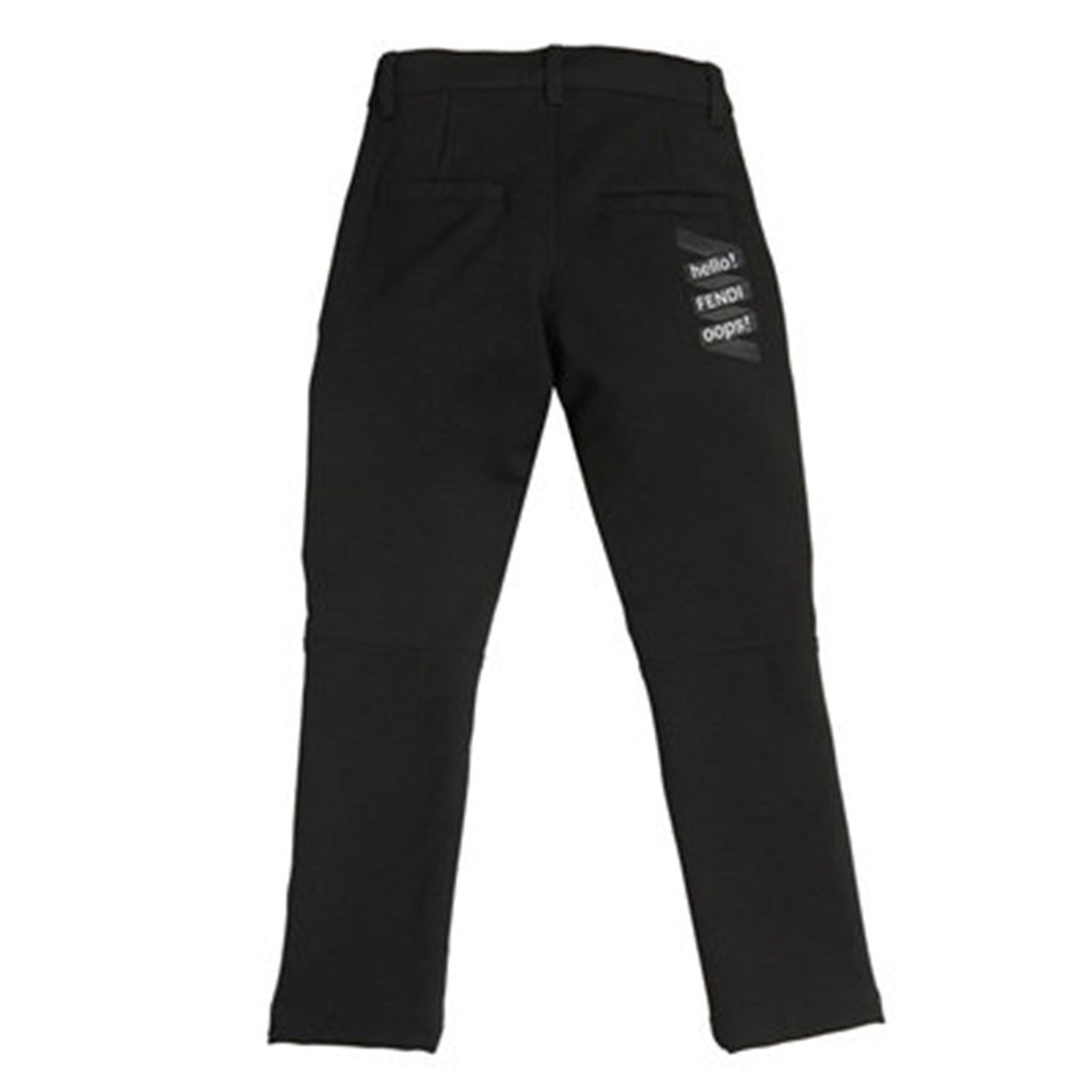 Boys Black Biker Pants